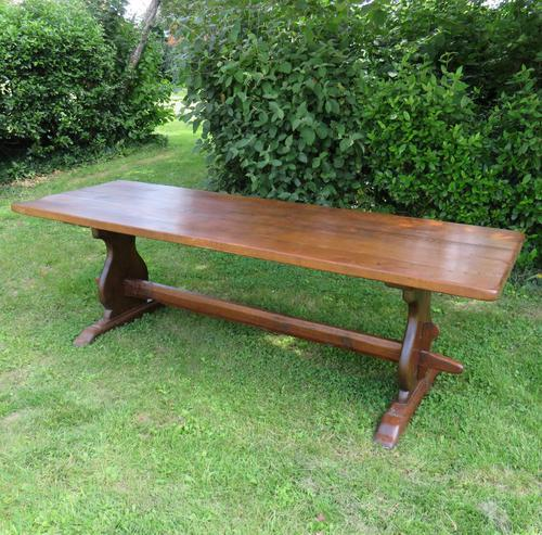 Large French Oak Refectory Dining Table (1 of 12)