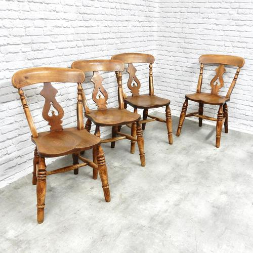 Set of 4 Fine Quality Windsor Lyreback Chairs (1 of 7)