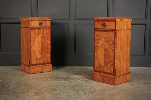 Pair of Satinwood Bedside Cabinets (1 of 13)
