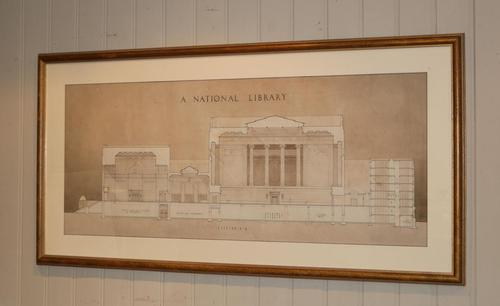 Architectural Library Print Framed (1 of 5)