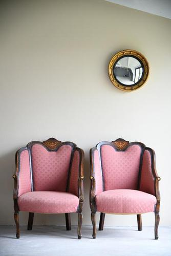 Pair of Edwardian Tub Armchairs (1 of 13)