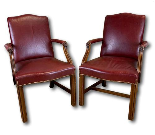 Pair of Victorian Mahogany Framed Armchairs (1 of 8)