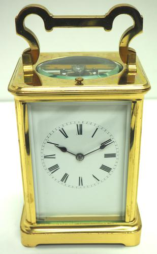 Large Classic Antique French 8-day Gong Striking Repeating Carriage Clock c.1880 (1 of 10)