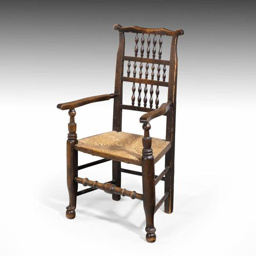 Attractive Mid 19th Century Elm Spindleback Armchair (1 of 5)