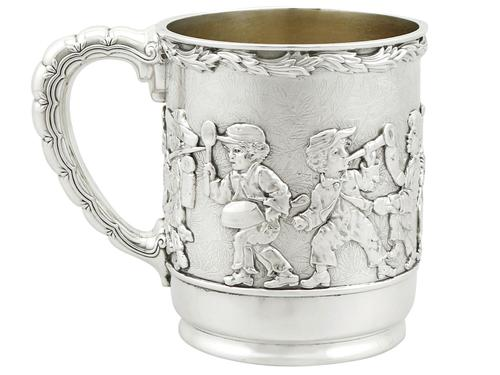 American Sterling Silver Christening Mug by Tiffany & Co - Antique 1879 (1 of 12)