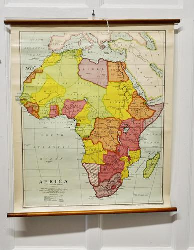 """Large University Chart """"Africa Physical """"  by Bacon (1 of 4)"""