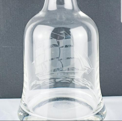 Clear Crystal Glass Decanter Depicting Caravelle (1 of 5)