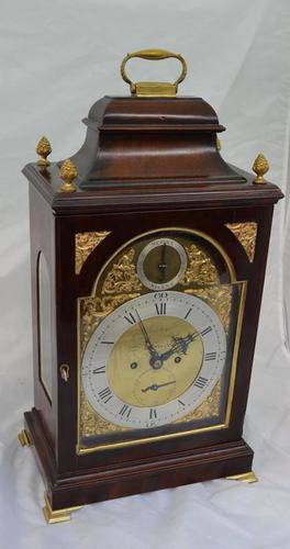 Georgian Verge Fusee Bracket Clock Christopher Bullock, London (1 of 6)