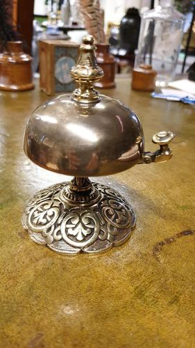 Late Victorian Brass Desk Bell (1 of 4)