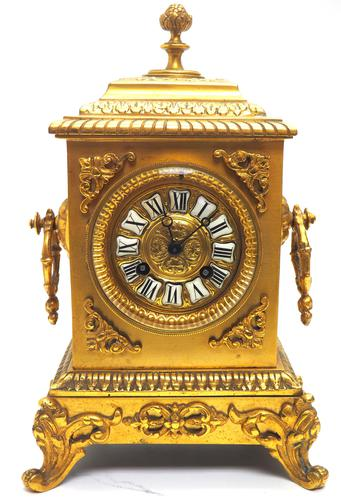 Fine Antique French 8-day Striking Mantel Clock - Sought Solid Bronze Ormolu Case (1 of 11)