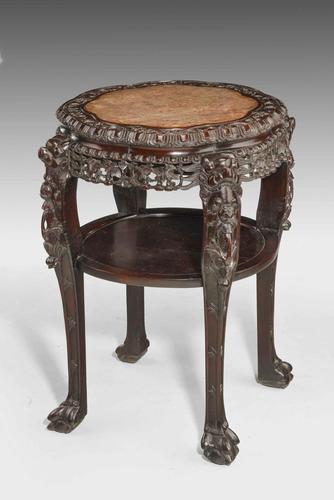 19th Century Chinese Hardwood  Two Tier Stool (1 of 6)