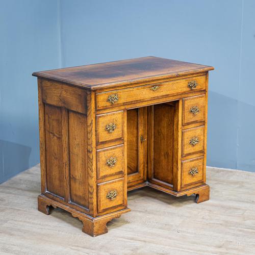 Oak Knee-hole Desk (1 of 9)