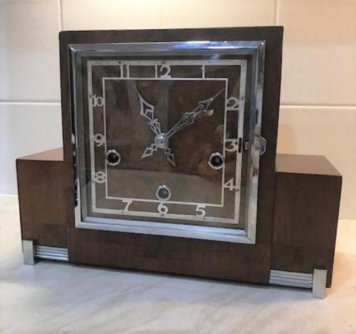 Classic Art Deco Westminster Chiming Mantle Clock by Enfield (1 of 7)