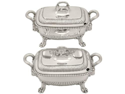 Sterling Silver Tureens - Antique George III 1810 (1 of 15)