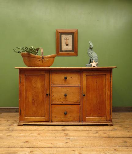 Victorian Rustic Antique Pine Sideboard Kitchen Unit (1 of 22)