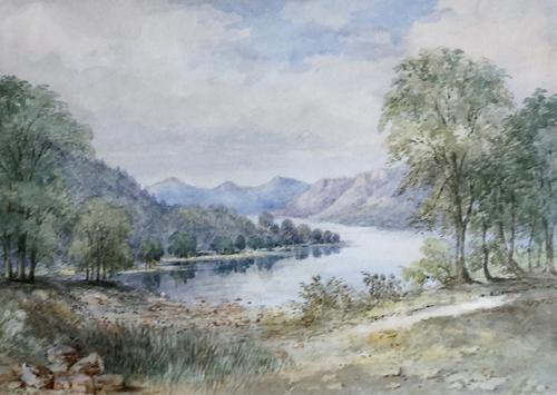 Harriet Drummond Watercolour 'Sketch from opposite side of Loch Earn' (1 of 3)