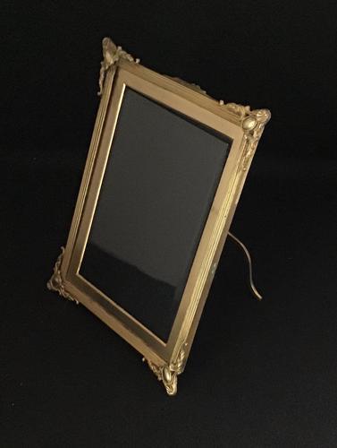 Good Quality Gilt Brass Edwardian Easel Photo Frame (1 of 4)