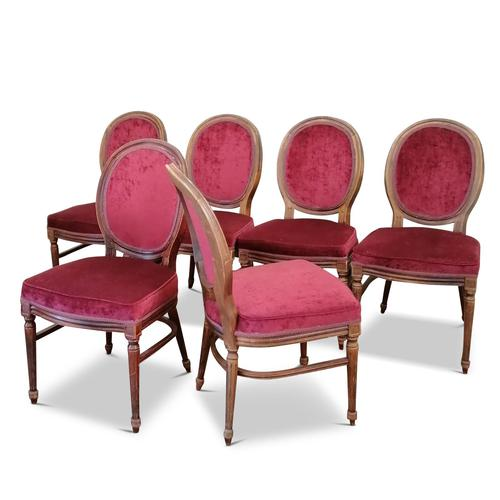Set of Six Victorian Walnut Balloon Back Chairs (1 of 6)