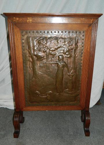 Arts & Crafts fire screen (1 of 5)