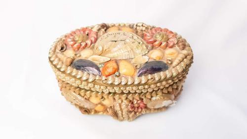 Vintage Seashell Trinket St George Les Bains Box (1 of 8)