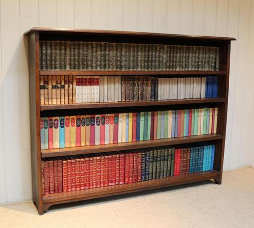 Large Solid Oak Open Bookcase (1 of 9)