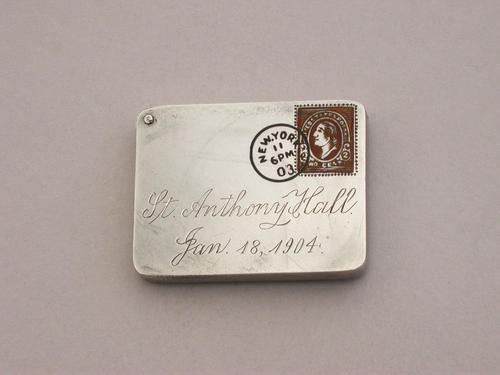 Edwardian Patented American Sterling Silver & Enamel Envelope Form Stamp Case (1 of 10)