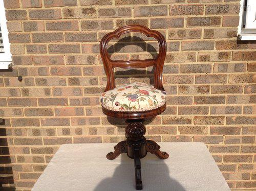 Victorian Rosewood Music Chair (1 of 3)