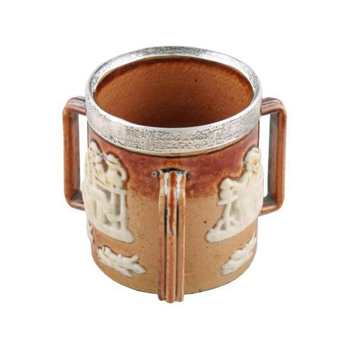 Doulton Lambeth Miniature Loving Cup (1 of 7)