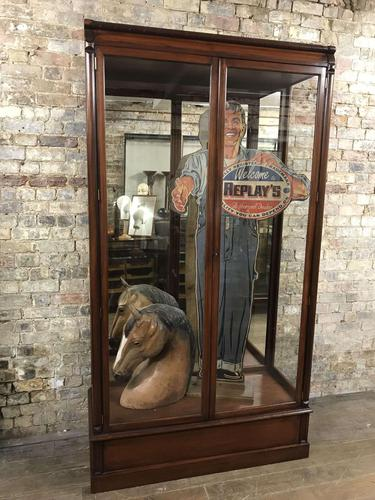 Antique Mahogany Shop Cabinet 'One of a Pair' (1 of 4)