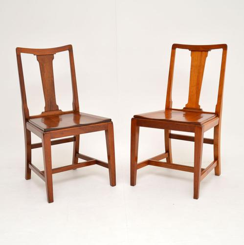 Pair of Art Deco Vintage Solid Mahogany Side Chairs (1 of 11)