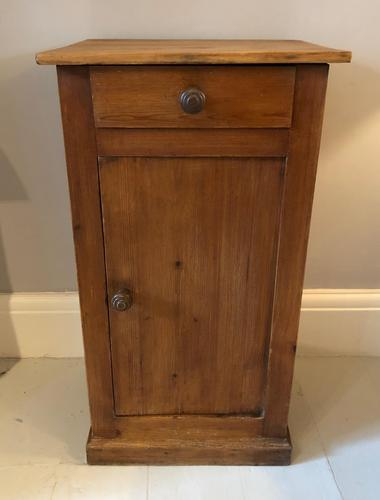 French Pine Bedside Cupboard (1 of 7)