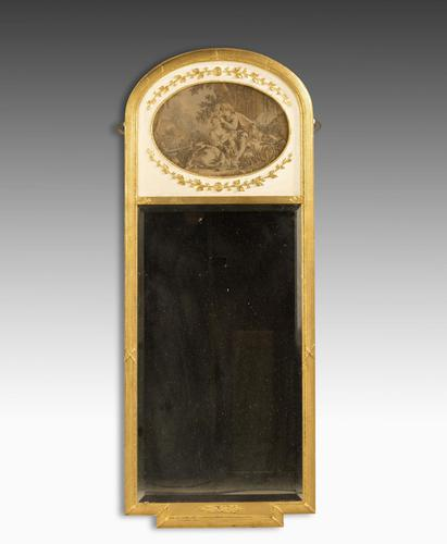 Late 19th Century French Giltwood Trumeau Mirror (1 of 5)