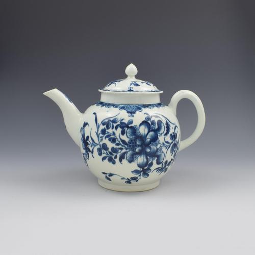 Large First Period Worcester Porcelain Mansfield Pattern Teapot c.1775 (1 of 15)