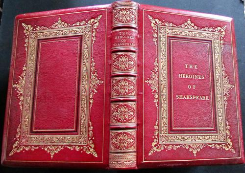 1870 The Heroines of Shakspeare Large Illustrated Edition Deluxe Full Leather (1 of 5)