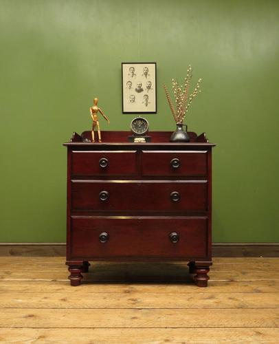 Small Antique 19th century Mahogany Chest of Drawers Washstand with aged patina (1 of 18)