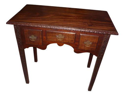 Georgian Mahogany Lowboy with later carving c.1790 (1 of 1)
