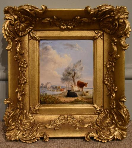 """Oil Painting by Edmund Bristow """"Pastoral View"""" (1 of 3)"""