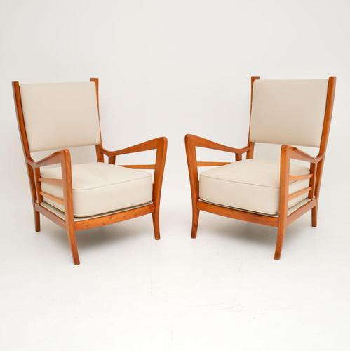 1950's Pair of Italian Vintage Armchairs (1 of 12)