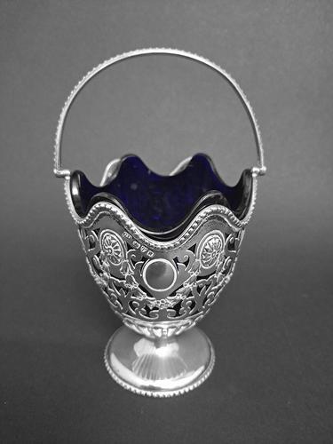 Victorian Silver Sugar Basket (1 of 4)