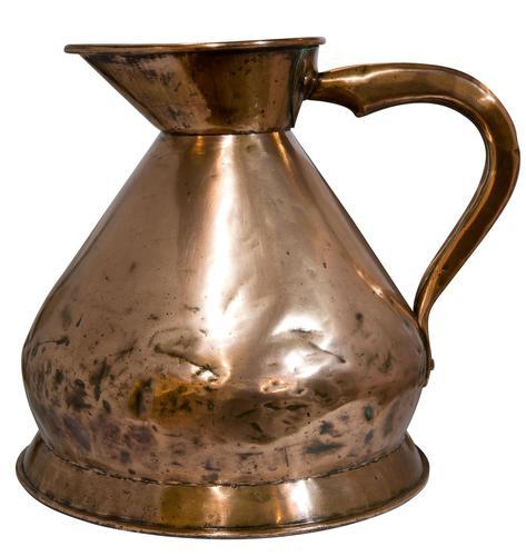 Victorian Copper 2 Gallon Measure c.1860 (1 of 5)