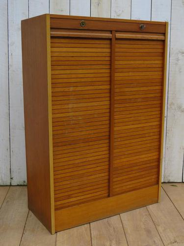 Double Tambour Front Filing Cabinet (1 of 9)