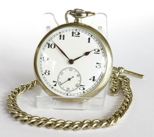 1930s Recta Pocket Watch & Chain (1 of 5)