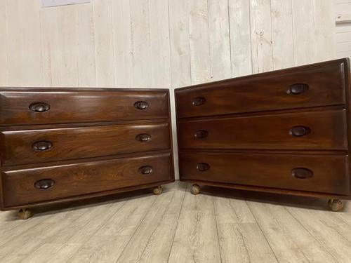 Pair of Ercol Elm Chest of Drawers (1 of 5)