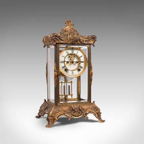 Antique Mantel Clock, French, Gilt Bronze, Ormolu, Brocot Escapement, Circa 1900 (1 of 12)