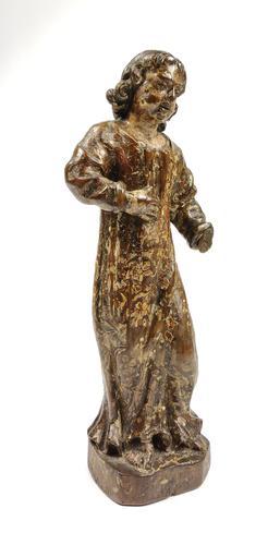 17th Century Carved Walnut Figure (1 of 11)