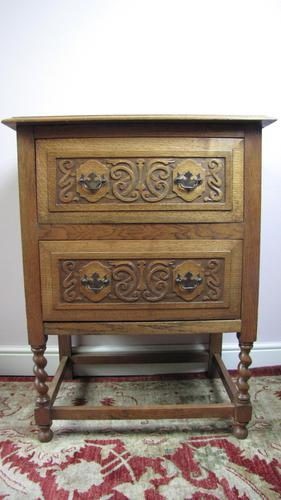 Light Oak Chest on Stand (1 of 4)