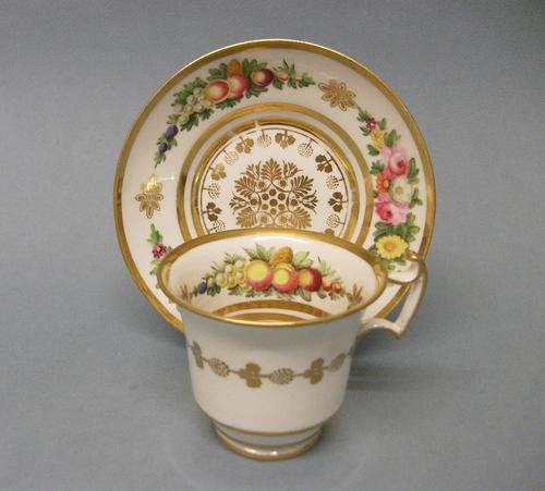 Swansea London Shape Coffee Cup & Saucer c.1815 (1 of 11)