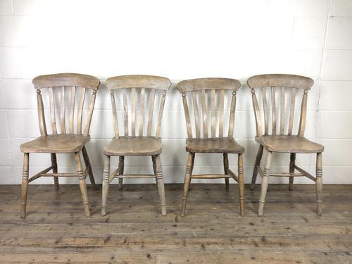Set of Four Antique Farmhouse Kitchen Chairs (1 of 14)