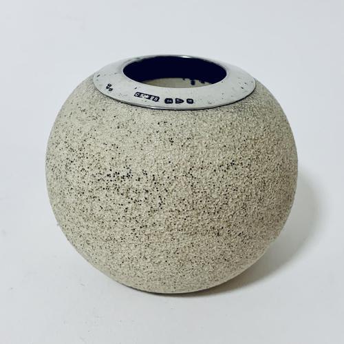 Antique Ceramic Match Strike Holder with Silver Rim (1 of 11)