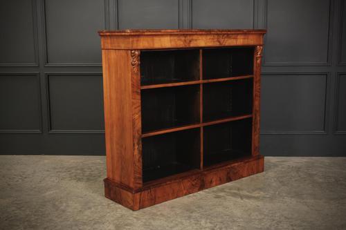 Figured Walnut Open Bookcase (1 of 12)